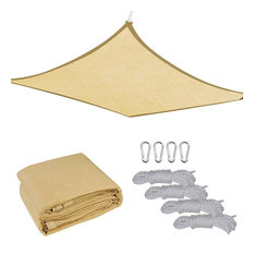 YesHom - 13x10' Outdoor Patio Rectangle Sun Sail Shade Cover Canopy Top Shelter With Rope - Shade Sails