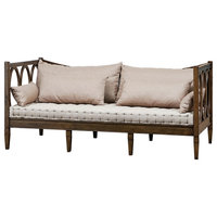Transitional Weaver Twin Day Bed In Weathered Mahogany Finish 9519002T