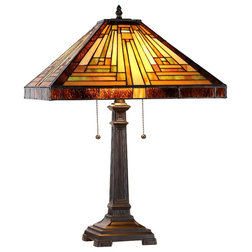 Craftsman Table Lamps by CHLOE Lighting, Inc.