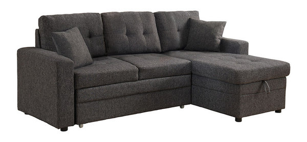 Cayler Sectional Sofa With Storage and Pull Out Bed Contemporary