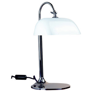 """""""Ministerial"""" 1930s Art Deco Table Lamp, White"""