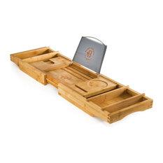 Belmint - Expandable Bamboo Bathtub Caddy Bath Tray for a Spa Relaxing Bath By Bambusi - Shower Caddies