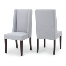 GDFStudio - Cline Light Gray Fabric Dining Chairs, Set of 2 - Dining Chairs