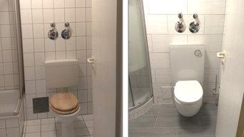 Umbaumaßnahme Stand WC zu Wand WC