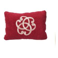 Serenity Beach Cushion, Red and White