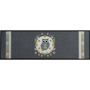 Easy Clean Grey Owl Doormat, Large