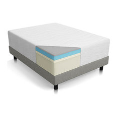 "Lucid 16"" Plush Memory Foam And Latex Mattress, Four-Layer, Twin Xl"