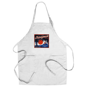 Chef's Apron, Radar Vegetable Label - Eclectic - Aprons - by