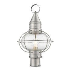 Newburyport 1-Light Post Lantern, Brushed Nickel
