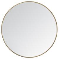 "Vasto Metal Frame 24"" Round Mirror, Gold"