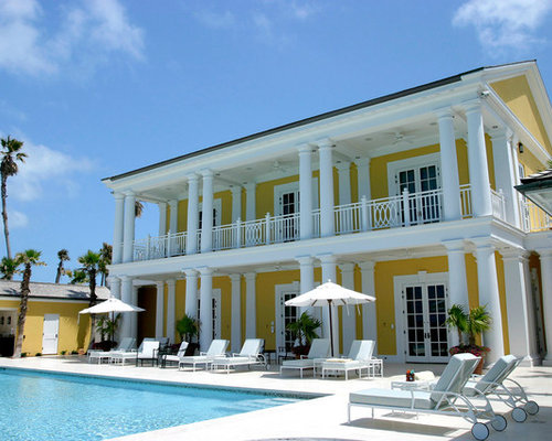 Colonial Style House On Caribbean Coastline By Hugh Petter