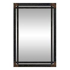 Mirrors houzz for Long black wall mirror