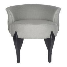 Safavieh - Mora French Leg Linen Vanity Chair - Vanity Stools and Benches  sc 1 st  Houzz & Vanity Stools and Benches | Houzz islam-shia.org