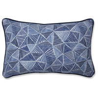 Stitches Ocean Rectangular Throw Pillow