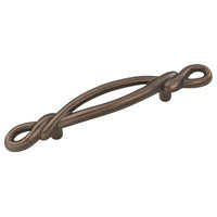 """Belwith Hickory 3 """" French Twist Dark Antique Copper Cabinet Pull P3451-DAC"""
