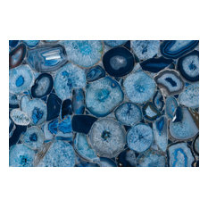 """Agate Stone Countertop Slab, Blue, 48""""x108"""" - ONE TIME LISTING"""