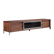Casabianca Home Duke Walnut Veneer Entertainment Center
