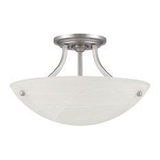 2-Light Semi-Flush-Satin Nickel