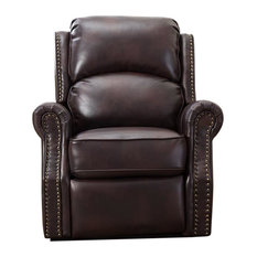 Corner Black Leather Chair