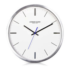 London Clock Company U0027Vantageu0027 Wall Clock, Silver, 42cm X 6.6cm