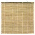 """Oriental Furniture - Burnt Bamboo Cordless Window Shade, Natural, 72"""" W - This beautiful cordless window Shade, is constructed from all-natural, woven bamboo. The natural bamboo has an earthy, organic appearance that complements a wide variety of interior decorating styles."""