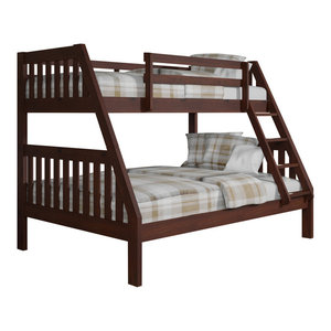 Beatrice Black Extra Long Twin Over Queen Bunk Bed With
