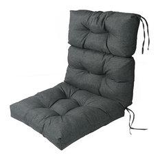 LNC Indoor Outdoor Lounge Chair Cushions Patio High Back Chair Cushion Gray