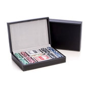 Poker Set With 200 11.5g Poker Set, Black Leather Case