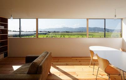 Houzz in Giappone: La Camera con una Vetrata Lunga 7 Metri
