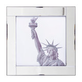 Square Mirror Picture Frame With Glittered Statue of Liberty Illustration