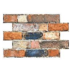 Rustic Mix Brick Slip Effect Tiles, 1 m2