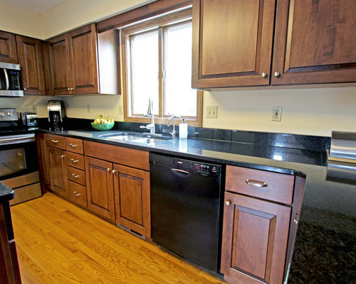 Maple Kitchen Cabinets With Black Pearl Granite Countertops ~ Copley, OH    Kitchen Cabinetry