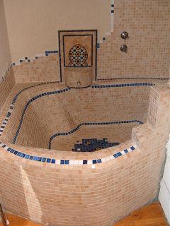 Ein Badezimmer, Dass Ich Im Marokkanischen Stil Gebaut Habe.