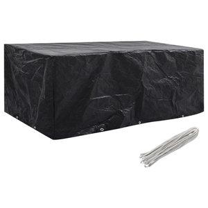 VidaXL Garden Furniture Cover, 8 Person Poly Rattan Set 10-Eyelet, 229x113 cm