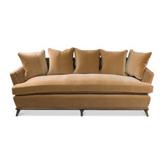 Exceptionnel Sarreid, Ltd.   Sofa, Vincent, Yellow, Gold Velvet, Contemporary