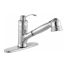 Shelton Single-Handle Pull-Out Sprayer Kitchen Faucet, Polished Chrome