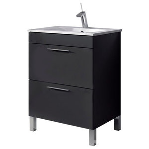 Dekor 60 Bathroom Vanity Unit, 60x45 cm, Anthracite Gloss