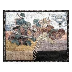 """Mozaico - Mosaic Designs, Grape, 31""""x42"""" - Tile Murals"""