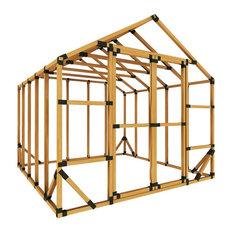 10ft W x 10ft D E-Z Frame Standard Storage Shed Kit, No Floor