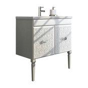 "Eviva Venice 32"" White Modern Luxury Bathroom Vanity And White Porcelain Sink"