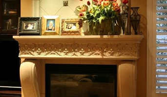 Aged Stone fireplaces