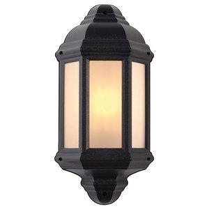 Halbury Traditional Outdoor Wall Light, Black