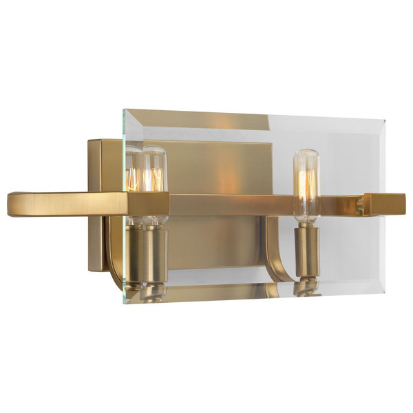 Progress Cahill Collection 2-Light Bath Vanity P300109-109, Brushed Br