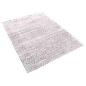 Aqua Silk Grey Rectangular Rug, 240x300 cm