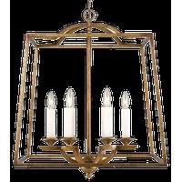 Athena 6-Light Pendant, Grecian Gold, Incandescent