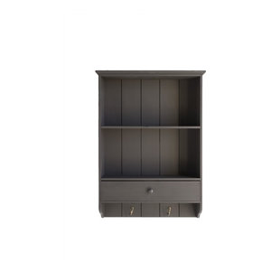 Open Kitchen Cabinet With Drawer, Brown