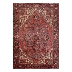 Consigned, Persian Heriz Rug, 7'11''x11'8'', Red/Black