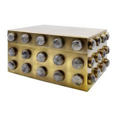 Worlds Away Alba Brass Box, Small