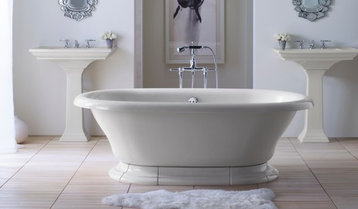 Timeless White Master Bath