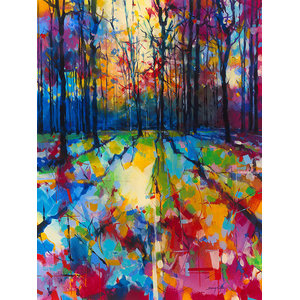 """Mile End Woods"" Printed Canvas by Doug Eaton, 80x60 cm"